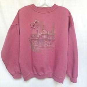 Vintage Northern Reflections Pink Grandma Sweater M